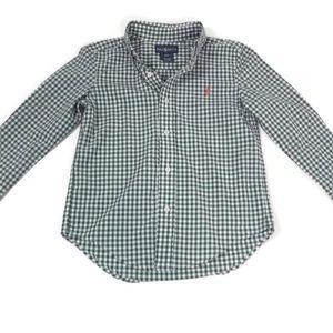 b843288a Ralph Lauren Shirts & Tops - RALPH LAUREN Toddler Boys Green & White ...